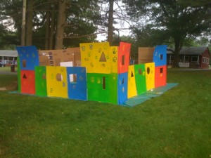 Box rivet Fort build by Cargo and the other kidz at Camp Crucible.
